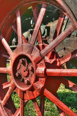 Farm Scene Photograph - The Old Wheel by Michael  Allen