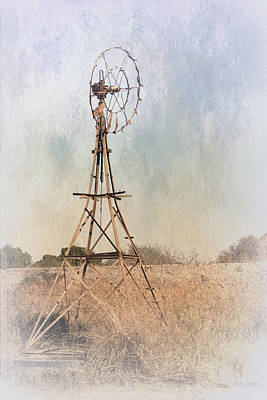 The Old Windmill Art Print by Elaine Teague