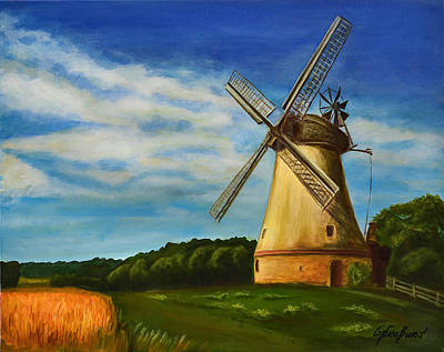 The Old Windmill Art Print by Gynt Art