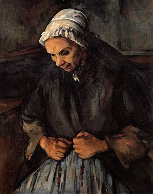 The Old Woman With Rosary Art Print by Paul Cezanne