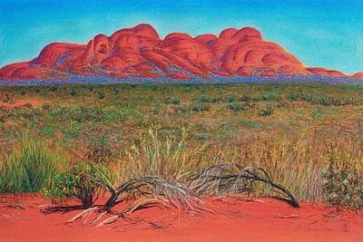 Pastel - Kata Tjuta National Park Northern Territory Australia by Judith Chantler