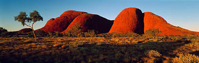 Uluru Photograph - The Olgas N Territory Australia by Panoramic Images