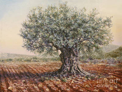 Painting - The Olive Tree In The Valley by Miki Karni