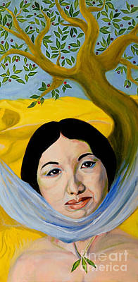 Painting - The Olive Tree Of Her Dream by Lucy Chen