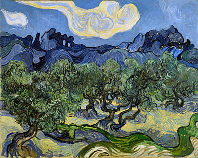 Digital Art - The Olive Tree by Vincent Van Gogh