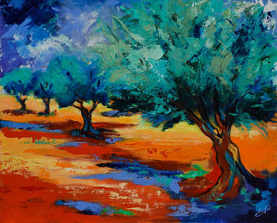 Fauvism Painting - The Olive Trees Dance by Elise Palmigiani