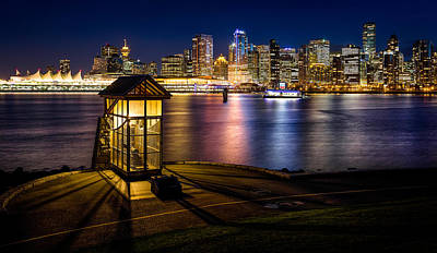 Photograph - The Olympic Cauldron From Stanley Park In Vancouver by Alexis Birkill
