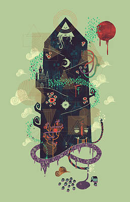 The Ominous And Ghastly Mont Noir Art Print by Hector Mansilla