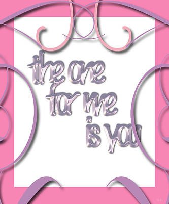 Be My Valentine Digital Art - The One For Me Card by Debra     Vatalaro