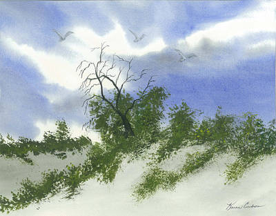 The One Tree Art Print by Karen  Condron