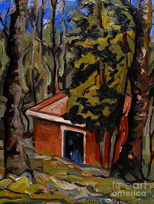Shed Painting - The Open Door by Charlie Spear