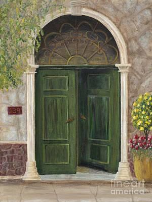 The Opened Door Original by Mona Elliott