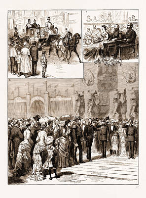 The Opening Of The Amsterdam Exhibition By The King Art Print by Litz Collection