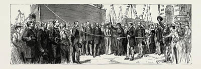 Dock Drawing - The Opening Of The New Barry Docks, Cardiff by Litz Collection