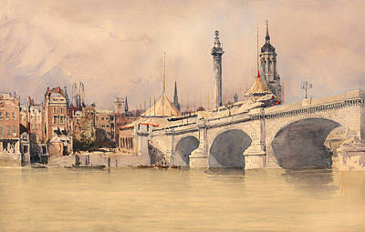 The Opening Of The New London Bridge Art Print by Mountain Dreams