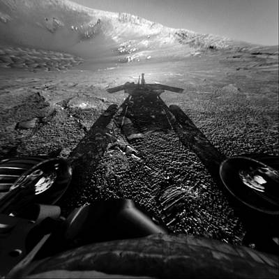 Photograph - The Opportunity Rover On The Edge by Nasa