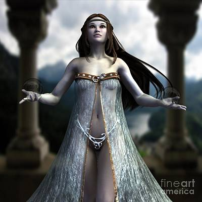 Digital Art - The Oracle by Sandra Bauser Digital Art