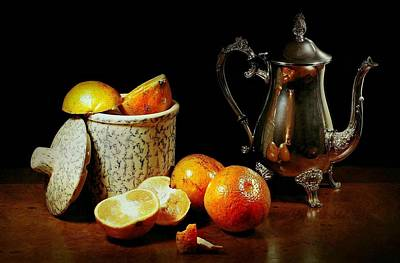 Tea Canisters Photograph - The Orange Bowl by Diana Angstadt