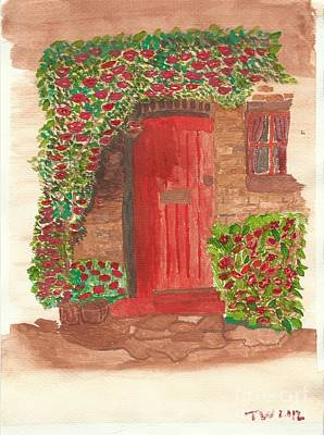 The Orange Door Art Print