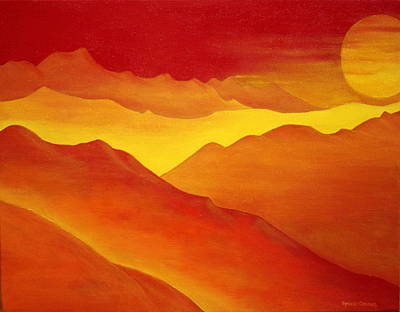 The Orange Mountains Art Print by Robert Crooker