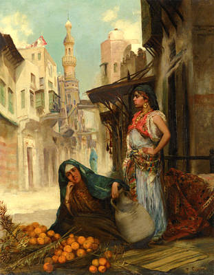 Spot Of Tea Royalty Free Images - The Orange Seller Royalty-Free Image by Fabbio Fabbi