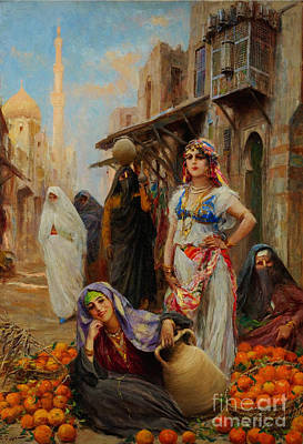 Allah Painting - The Orange Seller by Celestial Images