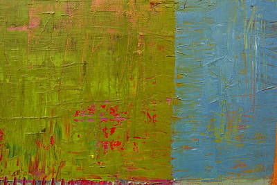 Grunge Painting - The Orange Wedge by Michelle Calkins