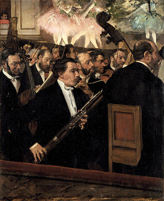 The Opera Orchestra Painting - The Orchestra At The Opera by Edgar Degas
