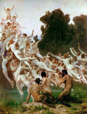The Oreads Art Print by Adolphe-William Bouguereau