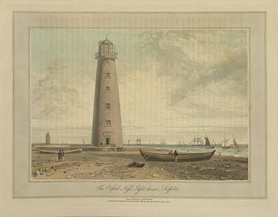 The Orford Ness Lighthouses Art Print by British Library