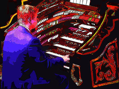 The Organ Player Art Print