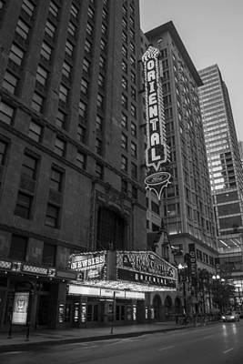 Photograph - The Oriental In Chicago  by John McGraw