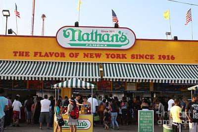 Photograph - Famous Nathan's Of Coney Island by John Telfer