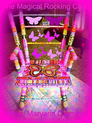 The  Original Magical Rocking Chair Art Print by Maryann  DAmico
