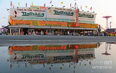 Luna Photograph - The Original Nathan's by Nishanth Gopinathan