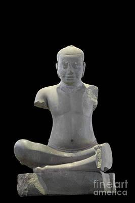 The Original Statue Of King Jayavarman Vii Art Print