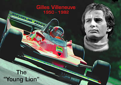 Canadian Grand Prix Photograph - The Original Young Lion by Mike Flynn