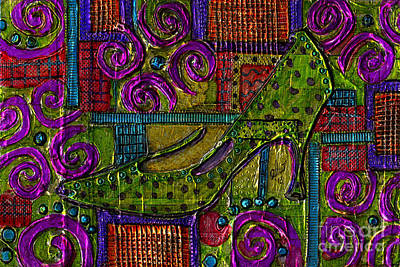 Mixed Media - The Ornate Shoe by Angela L Walker