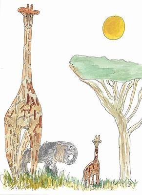 The Elephant Orphan Art Print by Helen Holden-Gladsky