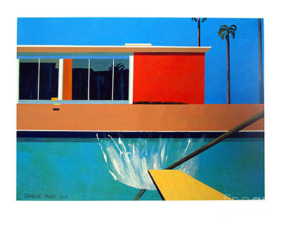 Venice Beach Painting - The Other Big Splash by Charlie Spear