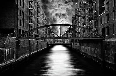 Bridge Photograph - The Other Side Of Hamburg by Stefan Eisele