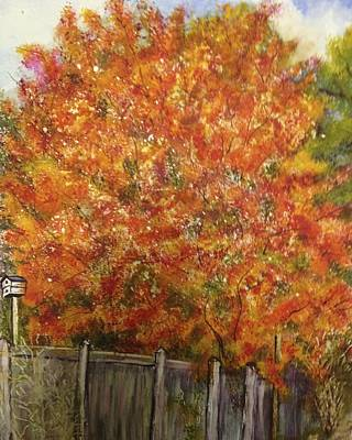 Painting - The Other Side Of The Fence by Carol Warner