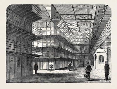 The Outbreak Among The Convicts At Chatham Interior Of St Art Print by English School
