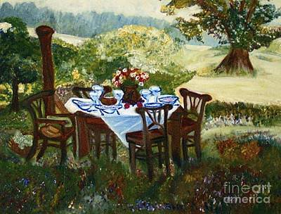 Painting - The Outdoor Gathering by Helena Bebirian