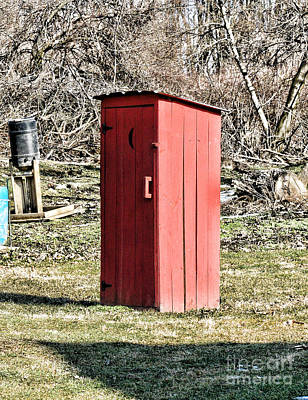 Old Wood Outhouse Photograph - The Outhouse - 1 by Paul Ward