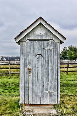 Old Wood Outhouse Photograph - The Outhouse - 2 by Paul Ward