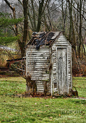Old Wood Outhouse Photograph - The Outhouse - 3 by Paul Ward