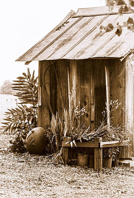 Photograph - The Outhouse by Carolyn Marshall