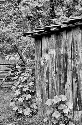 Split Rail Fence Photograph - The Outhouse by Paul W Faust -  Impressions of Light