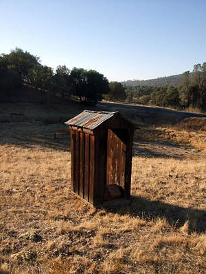 Art Print featuring the photograph The Outhouse by Richard Reeve